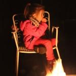 Aufwärmen am Lagerfeuer inklusive.