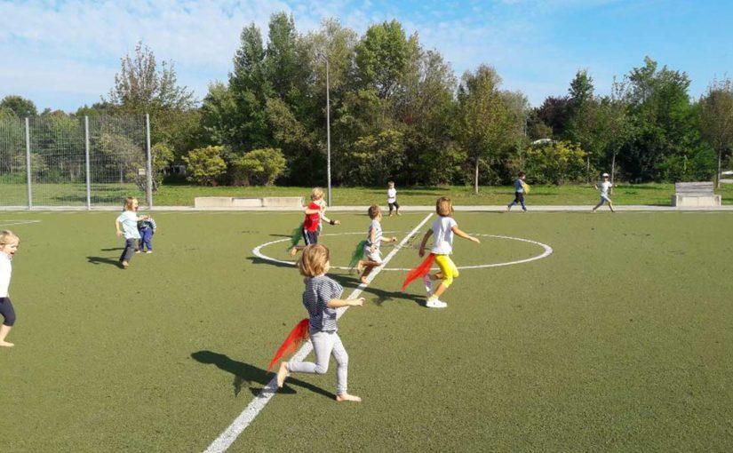 Sportstunde im Hirschgarten